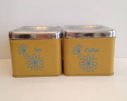 retro canisters kitchen retro canisters etsy