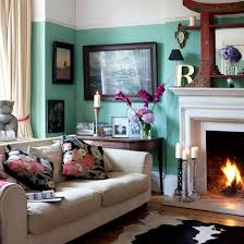 interior of living room victorian theme with victorian style