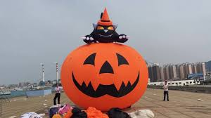 inflatable halloween lawn decorations halloween inflatable decoration pumpkin with black cat on 6m high