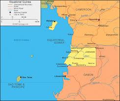 map of equator equatorial guinea map and satellite image