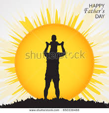 congratulation poster happy fathers day concept silhouette stock vector 650338468