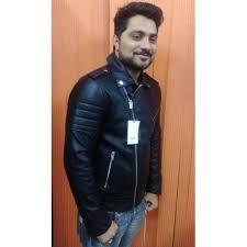 buy biker jacket buy zara black slim fit faux leather biker jacket for men online