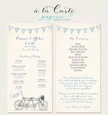 wedding ceremony card tandem bike wedding ceremony card wedding program