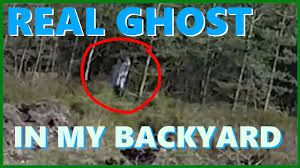 real ghost caught on camera in our backyard youtube