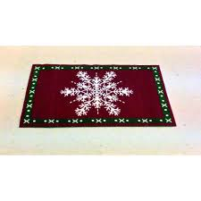 Christmas Rug The Dolls House Emporium Snowflake Christmas Rug
