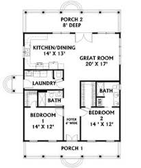 cottage style house plan 2 beds 2 baths 1100 sq ft plan 21 222