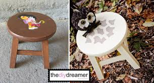 toddler stool to sophisticated stool the d i y dreamer
