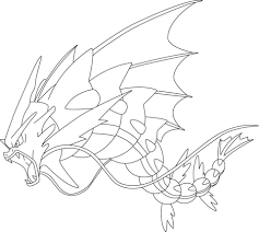 mega gyarados pokemon coloring free printable coloring pages