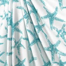 Coastal Shower Curtains Shower Curtain Blue Starfish Aqua Blue Starfish Shower