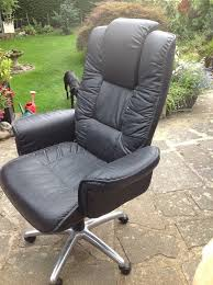 Free Desk Chair Free Desk Chair Faux Black Leather On Casters And Height