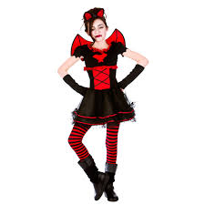 Halloween Costumes Girls Age 11 13 Child Vamparina Spooky Horror Halloween Fancy Dress
