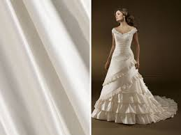 list of the trendiest wedding dress material and fabrics