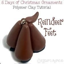 polymer clay reindeer ornament katersacres