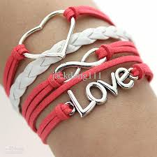 love charm leather bracelet images 2018 hot sale fashion leather bracelet new silver infinity anchor jpg
