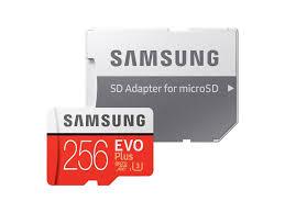 Memory Card Samsung 256gb microsdxc evo plus memory card w adapter 256gb 2017 model memory