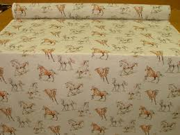 Zebra Print Upholstery Fabric Uk Horses Vintage Linen Look Animal Print Designs Curtain Upholstery
