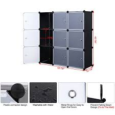 songmics 3 tier diy storage cube organizer closet 9 cube bookcase