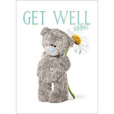 get well soon teddy get well soon photo finish me to you card a93ss027 me to