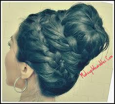 howtododoughnut plait in hair never ending french braid sock bun hair tutorial video