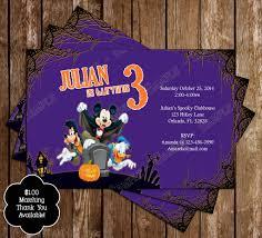 halloween birthday cards novel concept designs mickey mouse spooky halloween birthday