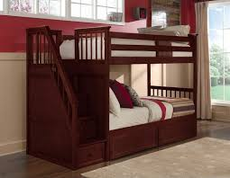 Cherry Bunk Bed Bunk Bed With Stairs Cherry Only Furniture