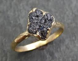 black band engagement rings black diamond engagement ring 14k yellow gold