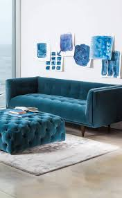 sofa chaise lounge slipcover navy blue tufted sofa navy blue