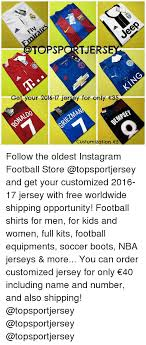 Customized Memes - topsportjers get your 2016 17 jersey for only 35 customization 5