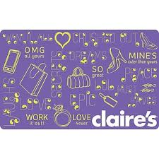 claires gift card s 20 gift card staples