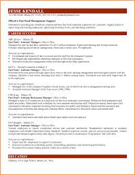 Assistant Manager Restaurant Resume Cover Letter Resume Examples Fast Food Resume Sample Fast Food