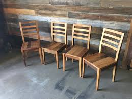 Reclaimed Dining Chairs Farmhouse Dining Chair Made From Reclaimed Wood What We Make