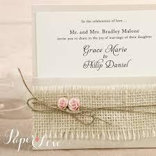 shabby chic wedding invitations wedding invitation vintage ribbon rustic shabby chic paper