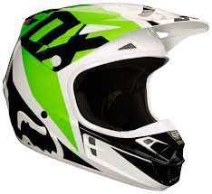 green dirt bike boots fox racing v1 race helmet cycle gear