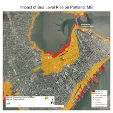 Portland Tourist Map by Maps Maine Communities Affected Sea Level Rise