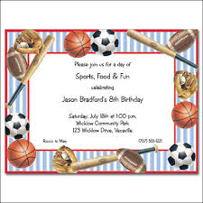 sports birthday invitations sports birthday invitations with
