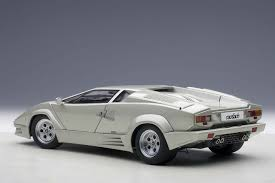 silver lamborghini autoart highly detailed die cast model last 25th anniversary