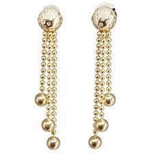 gold chandelier earrings cartier draperie diamond gold chandelier earrings at 1stdibs