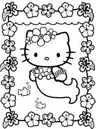 coloriage de hello kitty dessin la petite sirene hello kitty à