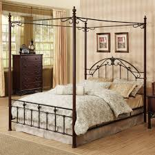 metal canopy bed idea modern wall sconces and bed ideas