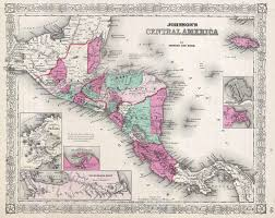 Maps Of Central America by File 1866 Johnson Map Of Central America Geographicus