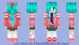 minecraft ribbon hatsune miku ribbon girl module minecraft skin
