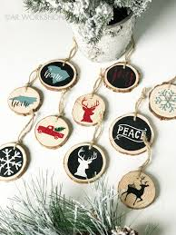 deck the halls tree decor workshop wood slice ornament project
