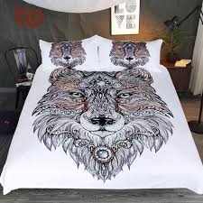 Tattoo Bedding Queen | beddingoutlet tattoo head wolf wild beast bedding set noble animal