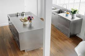 kitchen island stainless steel sizzling stainless steel kitchen brings home professional panache