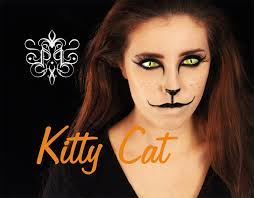 kitty cat halloween makeup last minute paholainen art youtube