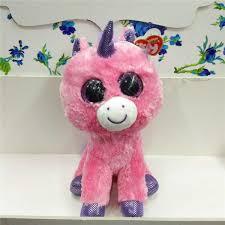 25cm ty beanie boos big eyes unicorn u2013 shop nation