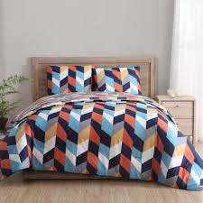 geometric pattern bedding buy orange pattern bedding set from bed bath beyond
