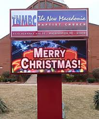 church signs custom outdoor led changeable message metal