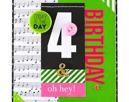 Happy Fourth Birthday Quotes Little Girls Birthday Card 4th Birthday Card Age