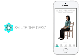 Yoga At The Office Desk Stuck At Your Desk All Day Try Saluting It With This New Yoga App